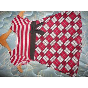 Bella Camisa Gris,roja Y Negra De Cuadros Talla 10