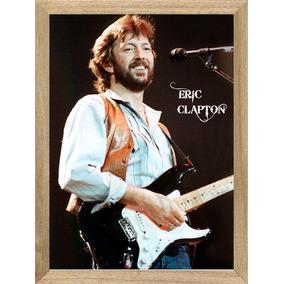 Cuadros De Bandas Eric Clapton Foto Con Guitarra P410