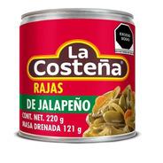 Chiles Jalapeños En Rajas La Costeña En Escabeche 220 Gr