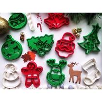 Cortadores De Biscoitos De Natal Variados - Kit C/ 06 Formas