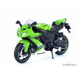 Moto Coleção Bike Kawasaki Ninja Zx-10r Verde 1:12 Maisto