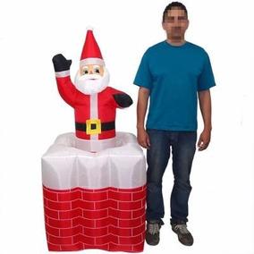 Papai Noel Natal Eletrico Sobe E Desce Inflavel Animado