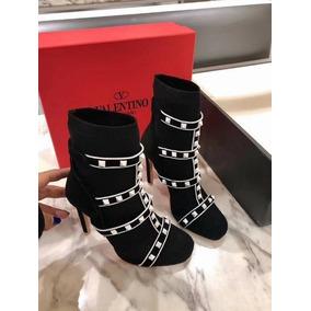 Bota Ankle Boots Valentino Rockstud Frete Gratis
