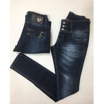Calça Skinny Jeans Com Zíper Atrás Revanche