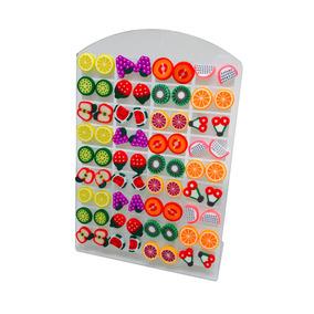 1 Cartela De Brincos De Frutas Variadas Pequenos - 36 Pares