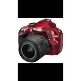 Nikon D3200 Cámara Roja