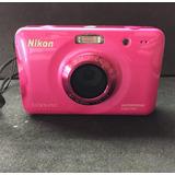 Cámara Nikon S30 Sumergible Contra Agua En Muy Buen Estado