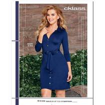 Vestido Cklass Azul Temporada Otoño Invierno 2016 Nuevo