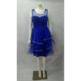 Vestido para fiesta azul rey
