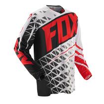 Camisa Fox Given Vermelha/branco G - Trilha Motocross Enduro