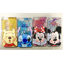 Funda Cascada Iphone 6 6s Brillo Agua Pooh Stitch Minnie