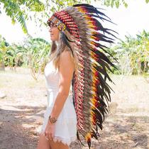 Penacho Indigena Apache Indio Para Adultos Envio Gratis