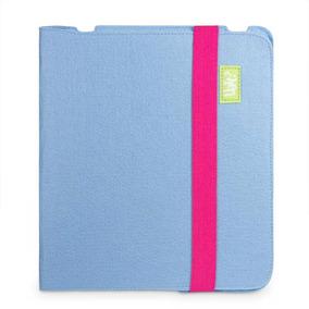 Capa Para Tablet Feltro - Azul