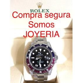 Rolex Gmt Master Ii Pepsi Con Diamantes Y Estuche Impecable