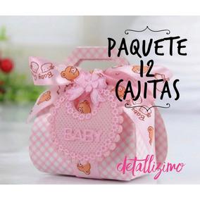 12 Cajitas Color Rosa Para Dulces Y Chocolates Baby Shower