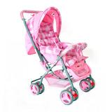 Carrinho Para Bebê Berço 3 Posicões Rosa - Baby First Love