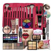 Kit Maquiagem Profissional Ruby Rose Luisance Com Pincéis