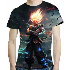 Camisa Dragon Ball Goku Vs Vegeta Camiseta Estampa Total
