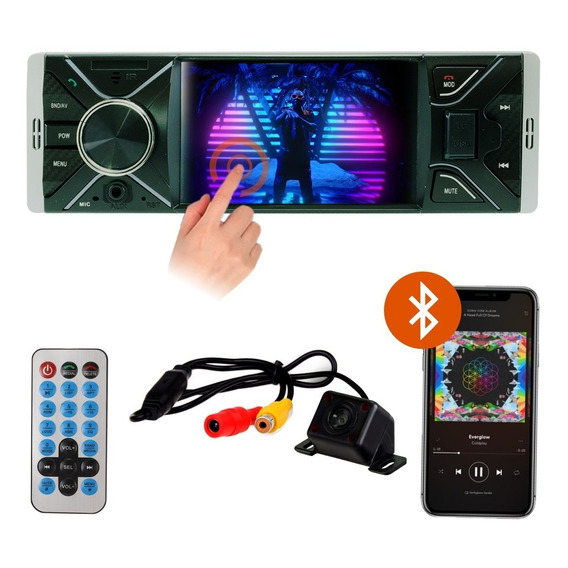 Stereo Pantalla Tactil 4 Pulgadas Bluetooth Camara Retroceso