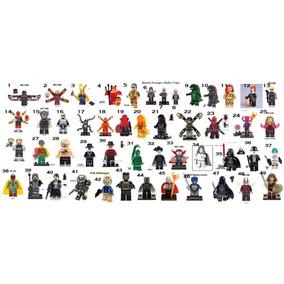 Escolha 7 Bonecos Bloco De Montar Brinquedo Educacional