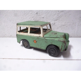 Antiguo Carro A Escala Land Rover, Hojalata, Coleccionable
