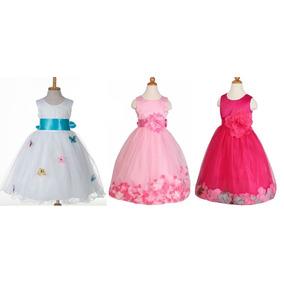 Vestido Fiesta Infantil Niña Hermosos Colores Y Diseños