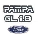 Emblemas Pampa Gl 1.8 + Ford - Modelo Original
