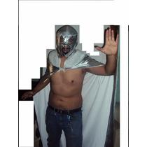 Traje Capa Y Mascara De Luchador Santo Adulto Lucha Libre