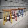 Banquito Desayunador,banco,silla,tipo Matero Hierro/madera