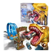 Metal Machines T Rex Attack Pista De Autos Dinosaurio Zuru