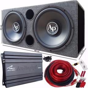 Combo Doble 2 Subwoofer 15 Db Audiopipe + Potencia + Cajon +