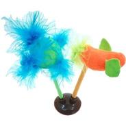 Brinquedo Para Gato Ventosa Penas Passarinho Bolinha Sonoro