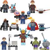 Bloques Sy619 Avengers Vengadores 8 Mini Figuras + Naves