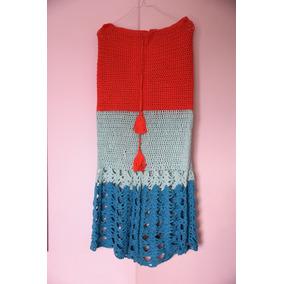 Pollera Tejida Al Crochet, Como Nueva