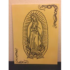 Cuadro Decorativo Virgen De Guadalupe Tallado En Mdf