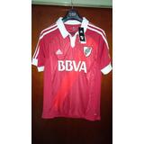 Camiseta River Plate adidas 2013 Suplente Bbva Roja