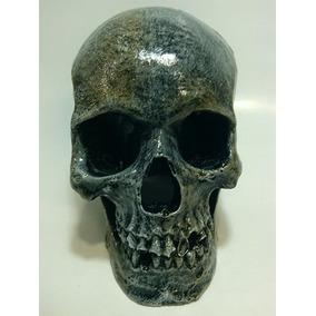 Enfeite Aquário Crânio Caveira Envelhecido