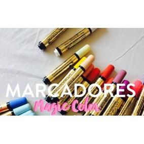 Canetas Magic Color - 36 Cores- - Ponta Única ` Frete