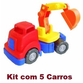Kit 5 Carros Carrinhos Máquinas Mercotruck Atacado Revenda