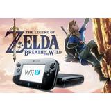 Nintendo Wii U 500gb 80 Juegos + Zelda Breath Of The Wild!!!