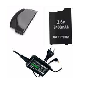 Carregador + Bateria + Tampa Psp 3000 A 3010 Slim Sony Psp