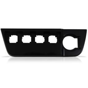 Moldura Painel Grade Botão Gol G6 Voyage Saveiro Black Piano