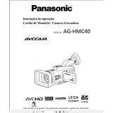 Manual Em Português Da Filmadora Panasonic Ag-hmc40
