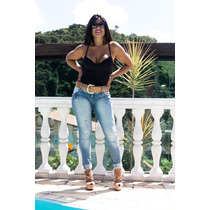 Calça Feminina Jeans Oppnus Cigarrete Skinny Thaína 2514