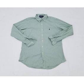 Camisa Polo Ralph Lauren, Hombre, Rayas, Verde, Azul Y Rojo.