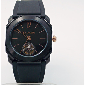 Reloj Bvlgari Octo Negro Con Tourbillon