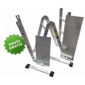 Escalera Aluminio Plegable Multiposiciones 3.8 M Con Charola