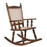 Móvel Em Madeira - Cadeira Balanço Relax Com Palha Ref. 112