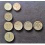 8 Monedas Brasil 10-20-50 Centavos 1 Cruzeiro Años 1945-1956