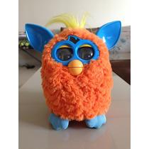Boneco Furby Azul E Laranja Seminovo
